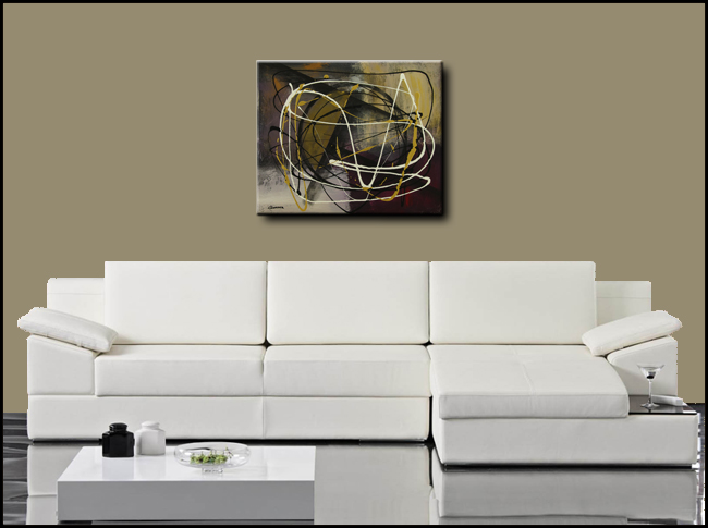 Time and Place-Modern Contemporary Abstract Art Painting Image