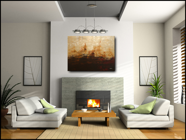 Horizonte-Modern Contemporary Abstract Art Painting Image