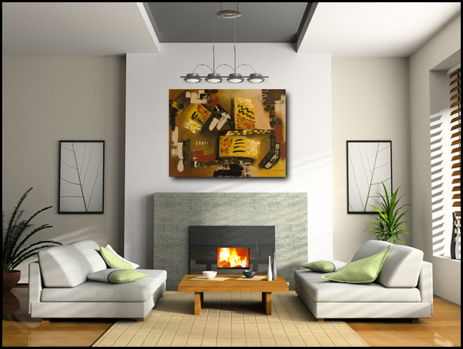 Momento-Modern Contemporary Abstract Art Painting Image