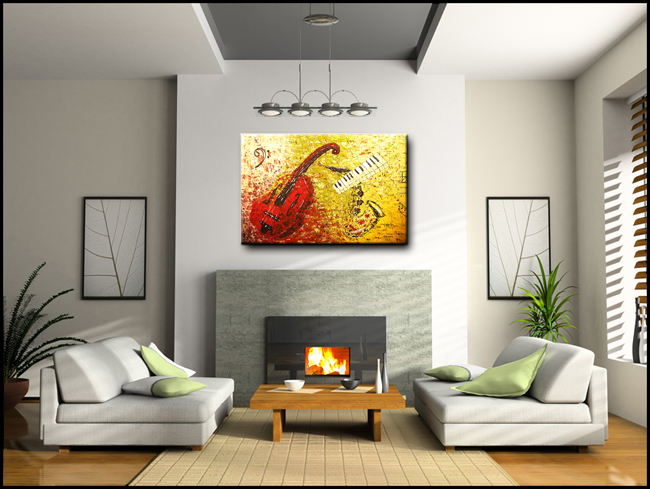 Concertino-Modern Contemporary Abstract Art Painting Image