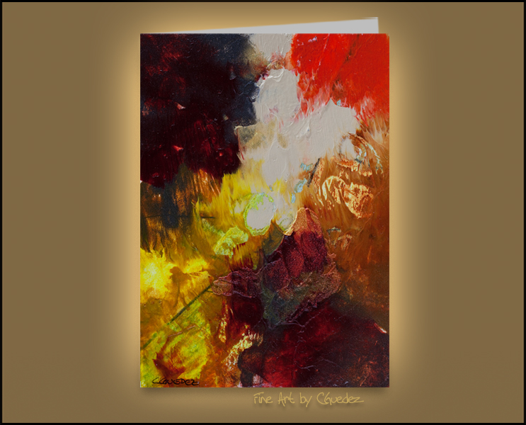 Greeting Card of an Original Abstract Painting