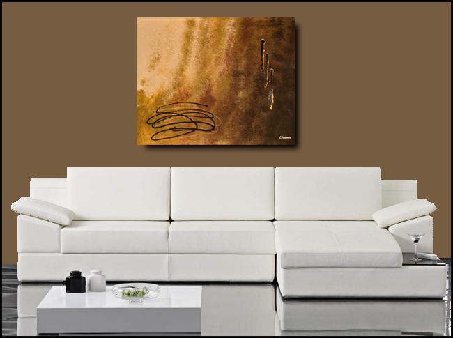 Reflexion-Modern Contemporary Abstract Art Painting Image
