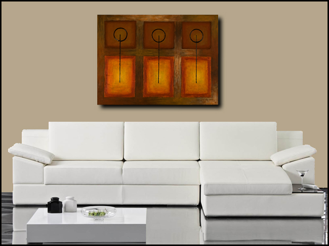 Tres Llaves-Modern Contemporary Abstract Art Painting Image